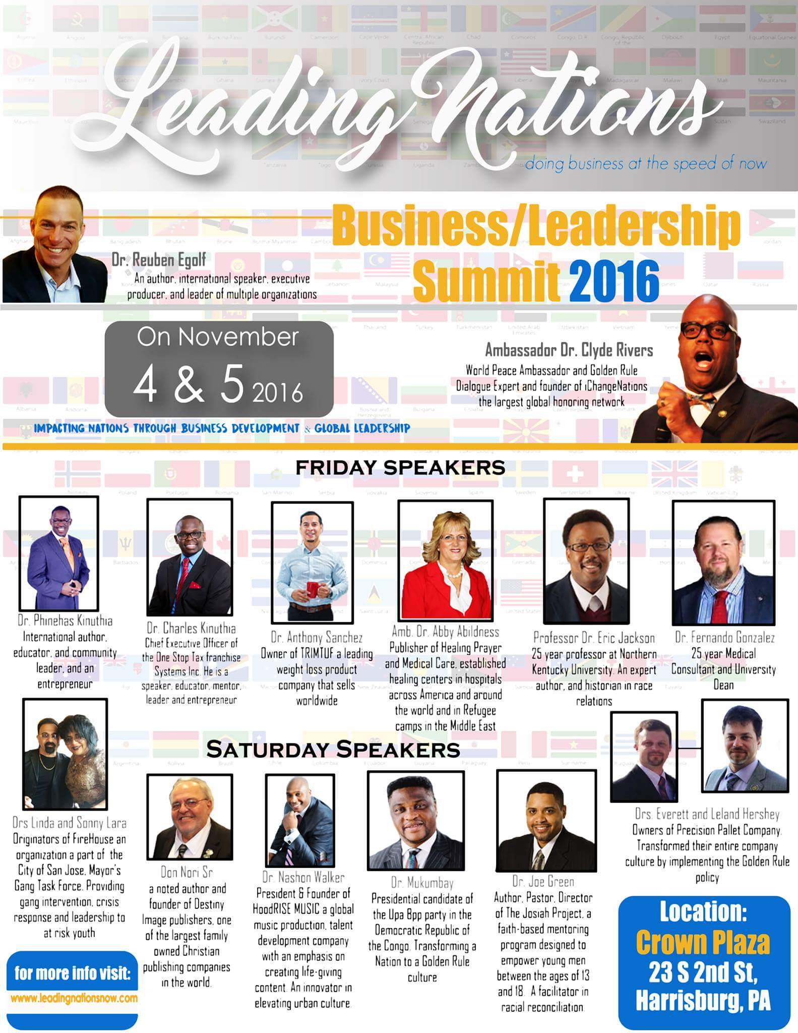 Speakers for the Business Leadership Summit